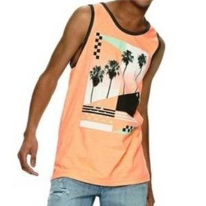 URBAN PIPELINE Tank Top Palm Tree Sleeveless Shirt